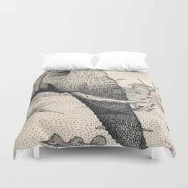 Family - Elephant Mourning Duvet Cover
