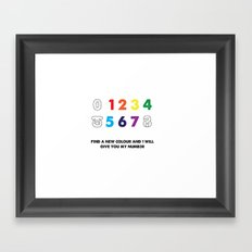 Find a new colour and I'll give you my number Framed Art Print