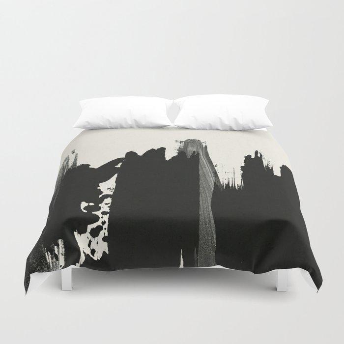 Black Paint Layers Duvet Cover