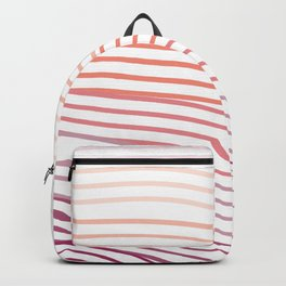 Pink Stripes Backpack