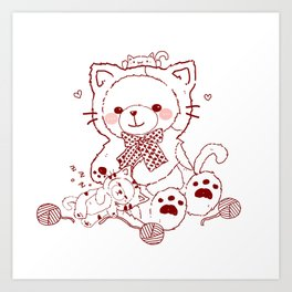 The Adventures of Bear and Baby Bear-Cats Art Print