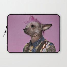 Punk Chinese Crested Dog Laptop Sleeve