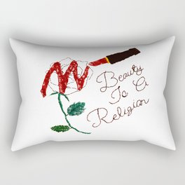 BeautyIsAReligion `Rose Lippy` Rectangular Pillow