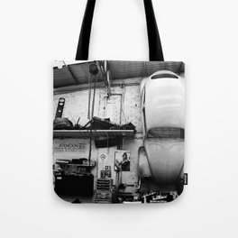 Car on the wall Tote Bag