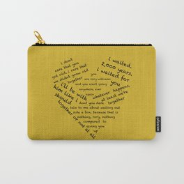 Quotes of the Heart - Amy/Rory (Black) Carry-All Pouch