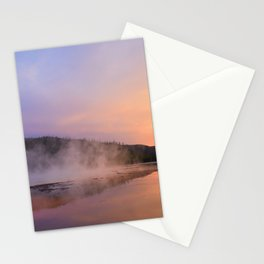 sunset at grand prismatic Stationery Cards