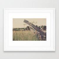 battlefield Framed Art Prints featuring Battlefield Fence by Sam Wesselhoft