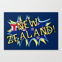 new zealand Canvas Prints featuring  New Zealand  by mailboxdisco