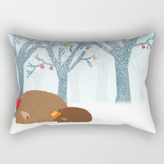 Sleeping winter Rectangular Pillow