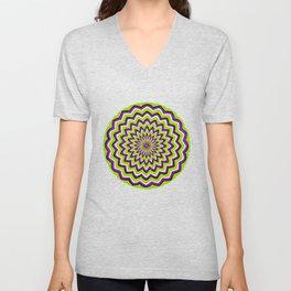 Optical Illusion moving pattern Unisex V-Neck
