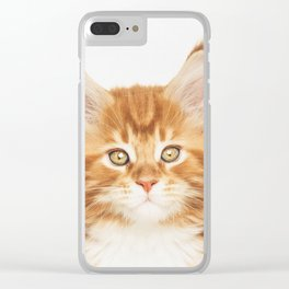 Ginger Kitten Clear iPhone Case