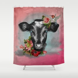 holy cow Shower Curtain