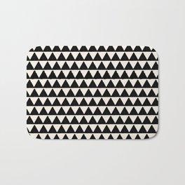 BLACK AND CREAM TRIANGLES Bath Mat
