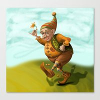 gnome Canvas Prints featuring Gnome by Olga Shefranov