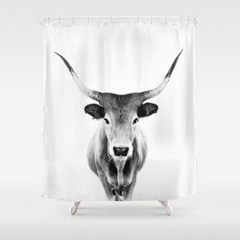 Honey - black and white Shower Curtain