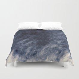 Blue Clouds, Blue Moon Duvet Cover
