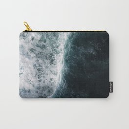 Oceanscape - White and Blue Carry-All Pouch