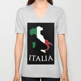 Italy-Italia Unisex V-Neck