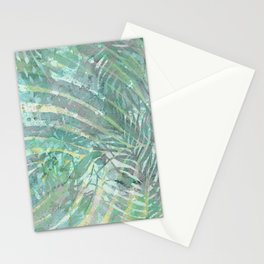 Relaxing leaves - delicate meditation green shades Stationery Cards