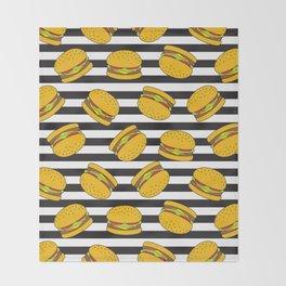 Burger Stripes By Everett Co Throw Blanket