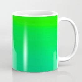 Lime Green and Sea Foam Green Ombre Coffee Mug