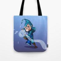 bender Tote Bags featuring Water Bender by MDDesigns