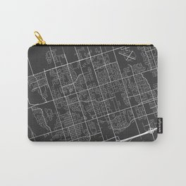 Whitby Map, Canada - Gray Carry-All Pouch