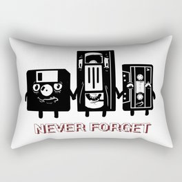 NEVER FORGET CASETTE DISKETTE FUNNY Rectangular Pillow