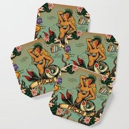 Tattoo Pisces Coaster