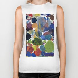 Artist palette with colorful paint spots Biker Tank