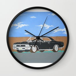 1966 black chevelle SS Wall Clock