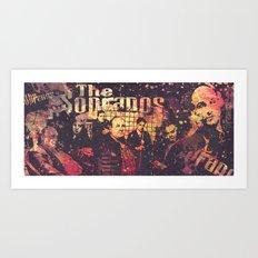 The Sopranos (in memory of James Gandolfini) Art Print