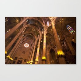 Inside Palma cathedral Canvas Print