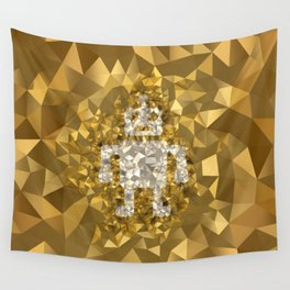 POLYNOID Robot / Gold Edition Wall Tapestry