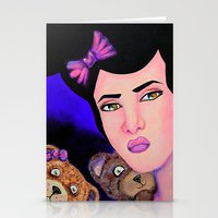 emily rickard Stationery Cards featuring Emily by Amor Designs