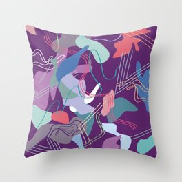 move with me Throw Pillow