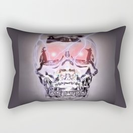Glass Skull Rectangular Pillow
