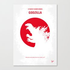 No029-2 My Godzilla 1954 minimal movie poster Canvas Print