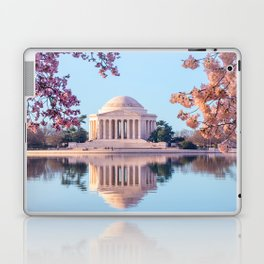 Cherry Blossoms at Jefferson Memorial in Washington DC Laptop & iPad Skin