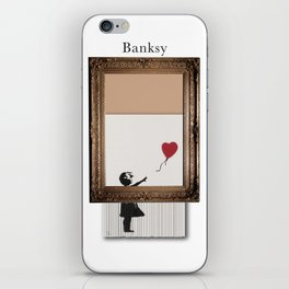 Girl With the Red Balloon Banksy Shredded iPhone Skin