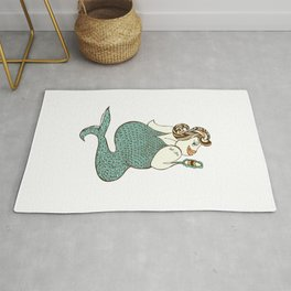 sel-fish mermaid Rug