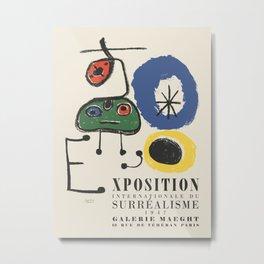 Joan Miro. Exhibition poster for International Exhibition of Surrealism in Paris, 1947. Metal Print