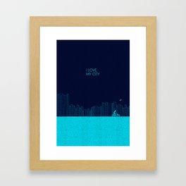 I love my City Framed Art Print