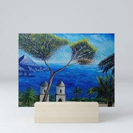 All Blue On Amalfi Coast Italy Mini Art Print
