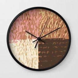 Pink & Copper Tiles Wall Clock