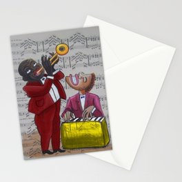 African American 'Apollo Theater Sheet Music Portrait No. 6' Hot Jazz by Miguel Covarrubias Stationery Cards