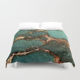 EMERALD AND GOLD Duvet Cover