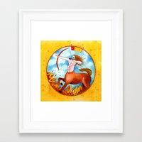 sagittarius Framed Art Prints featuring Sagittarius by Sandra Nascimento