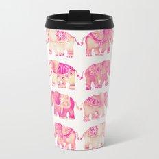Pink Elephants Travel Mug