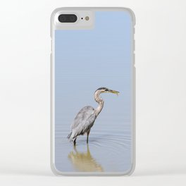 Great Blue Heron Fishing - II Clear iPhone Case
